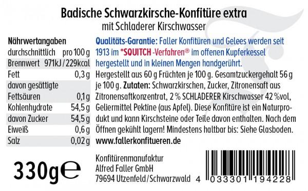 Schwarzkirsch Konfitüre mit Kirschwasser hg 330g_2