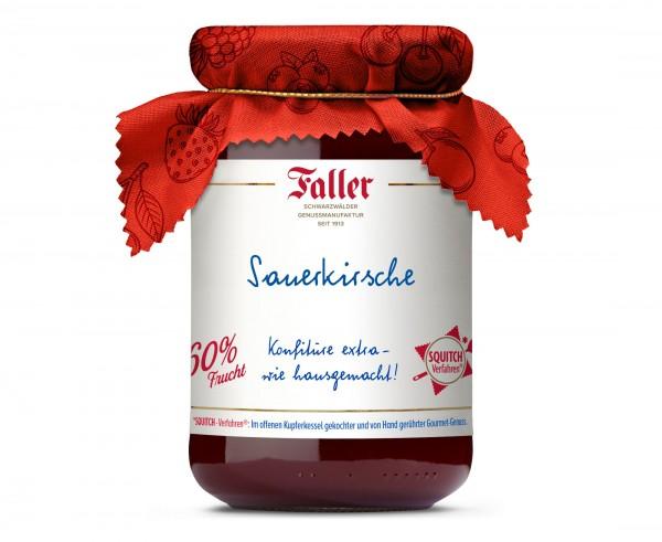 Sauerkirsch Konfitüre mit Rum hg 330g_1