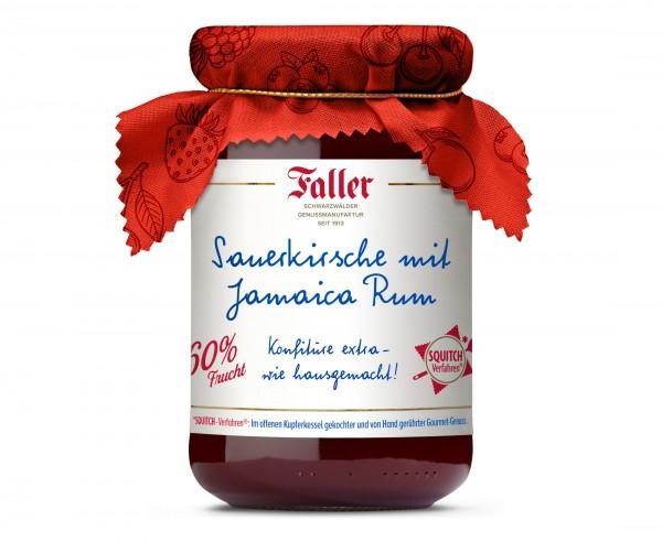 Sauerkirsch Konfitüre mit Rum hg 330g - 60% Frucht_1
