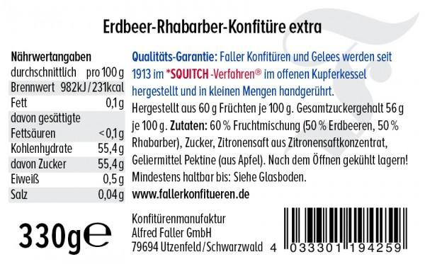 Erdbeer Rhabarber Konfitüre hg 330g_2