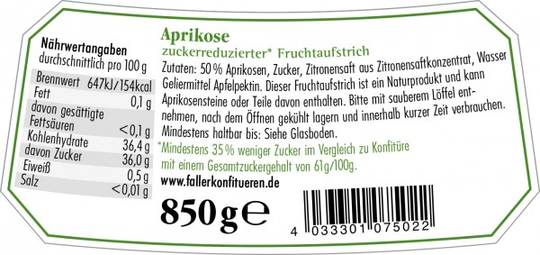 Aprikosen FA zuckerred. 850g_2