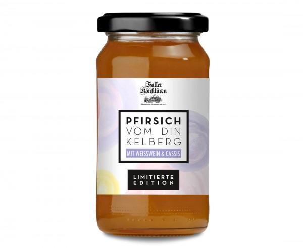 Pfirsich-Konfitüre mit Wein und Cassis 235g_1